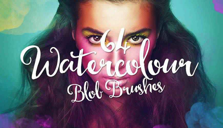 blob watercolor photoshop brushes free