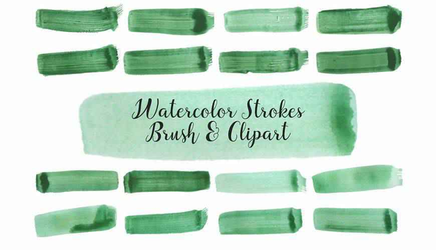 Strokes watercolor photoshop brushes free