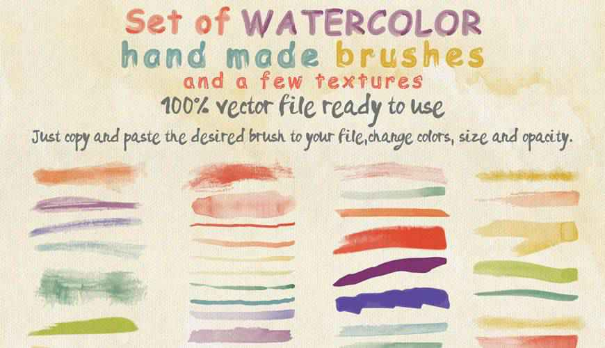 Textures watercolor photoshop brushes free