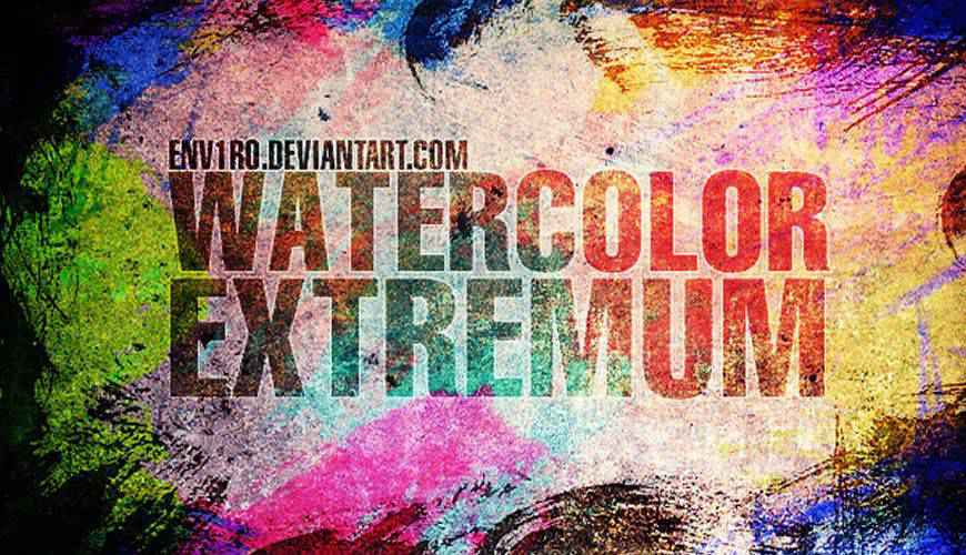 WaterColor Extremum watercolor photoshop brushes free