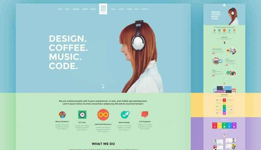 Creative Portfolio PSD Web Template Adobe Photoshop