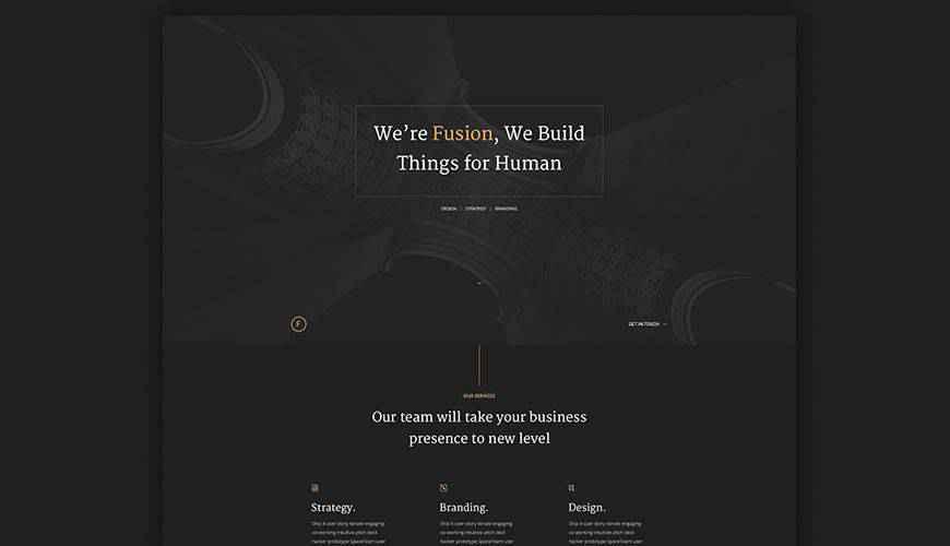 Fusion PSD Portfolio Web Template Adobe Photoshop