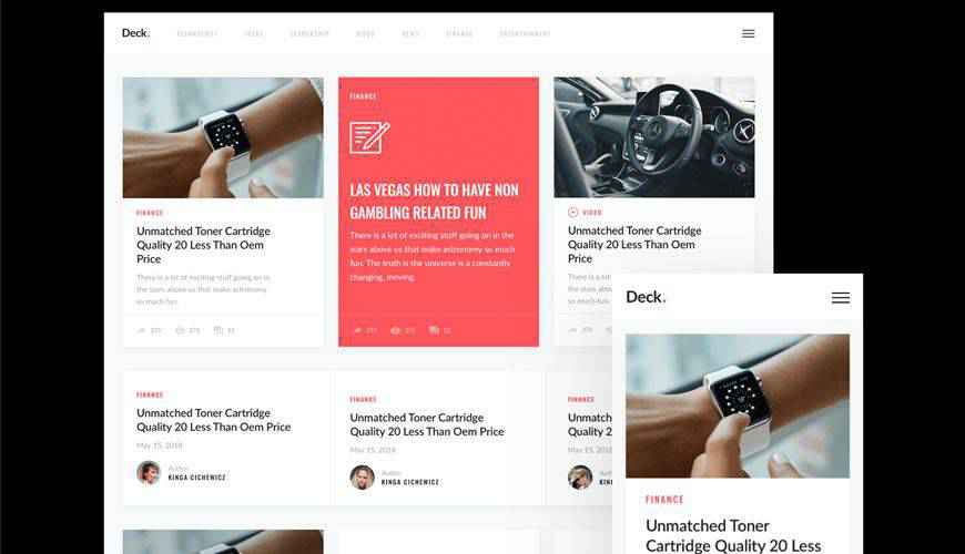Download Deck Card-Style UI Kit PSD Web Template Adobe Photoshop