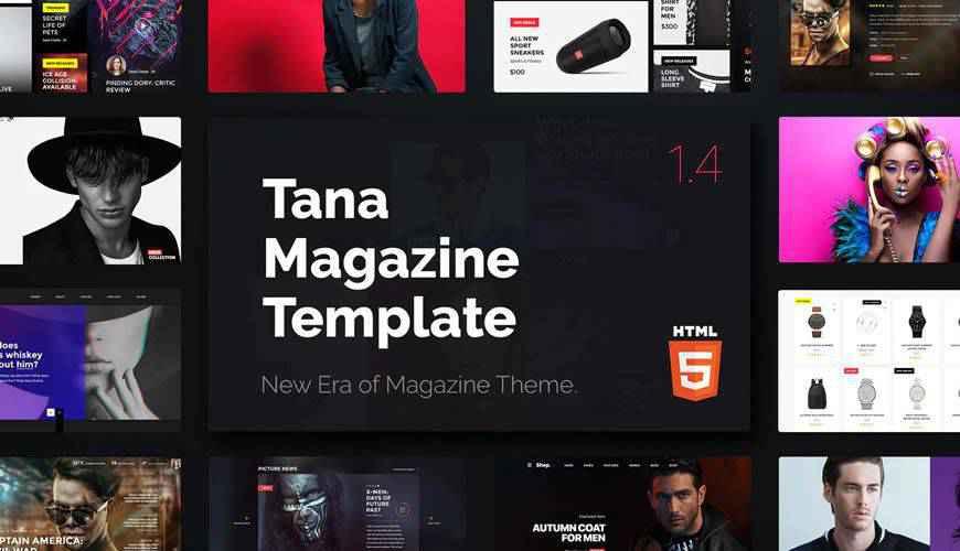 Magazine Tana PSD Web Template Adobe Photoshop