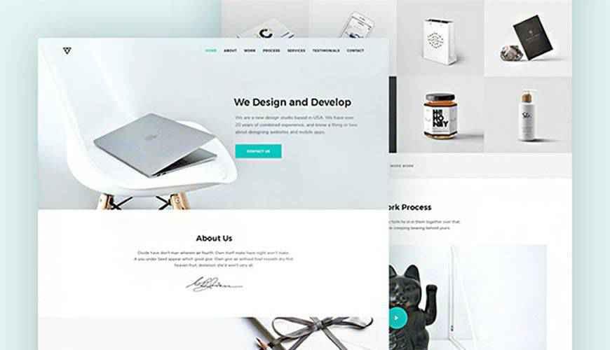 Piroll Agency or Portfolio PSD Web Template Adobe Photoshop