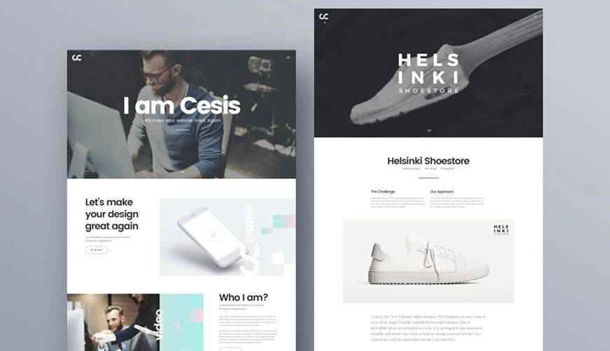 Cesis Creative Agency PSD Web Template Adobe Photoshop
