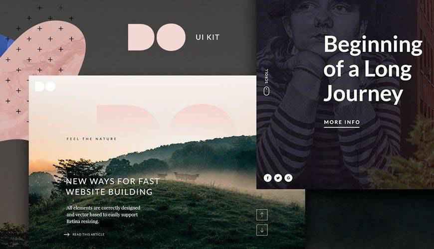 The DO Website Hero PSD Web Template Adobe Photoshop