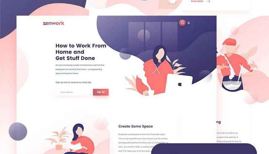 Remote Jobs Website PSD Web Template Adobe Photoshop