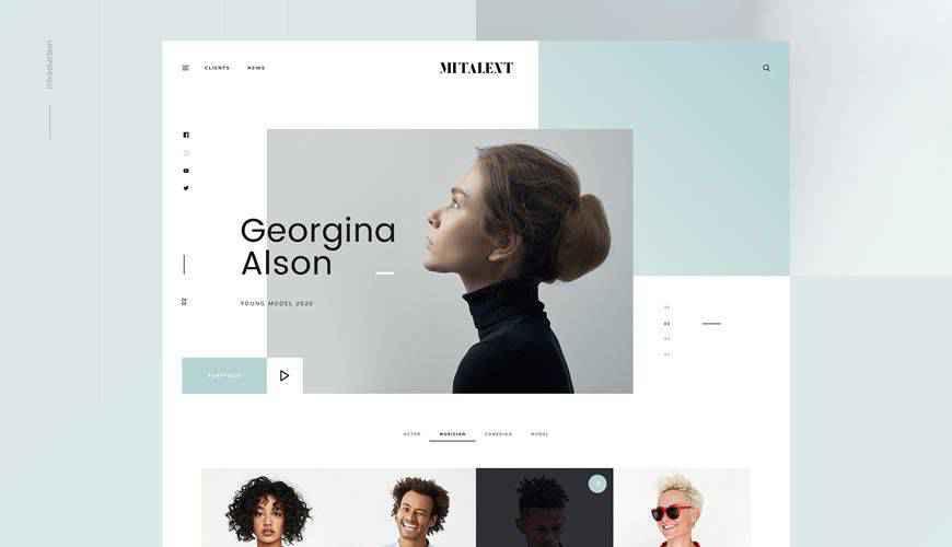 MI Talent Website PSD Web Template Adobe Photoshop