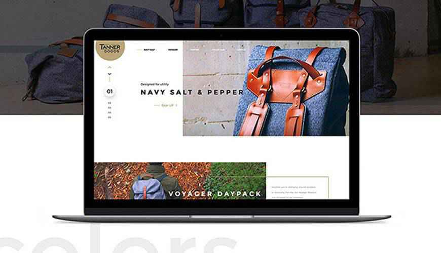 Tanner Collections eCommerce PSD Web Template Adobe Photoshop
