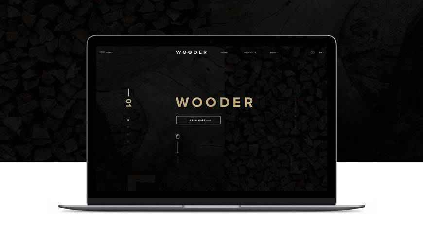 Wooder PSD Web Template Adobe Photoshop
