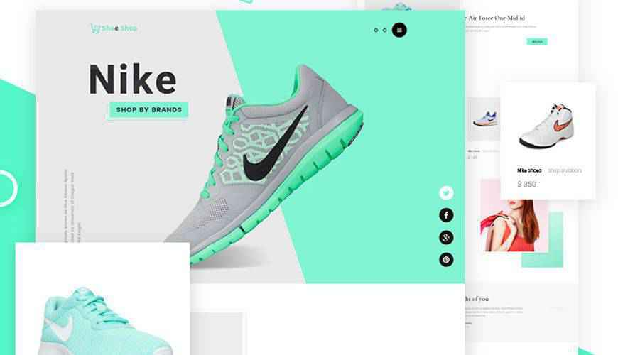 eCommerce Website PSD Web Template Adobe Photoshop