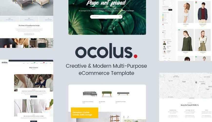 Ocolus Modern Multi-Purpose eCommerce PSD Web Template Adobe Photoshop