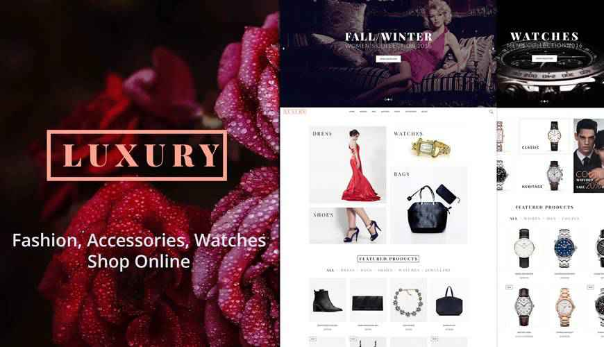 Luxury eCommerce Blog PSD Web Template Adobe Photoshop
