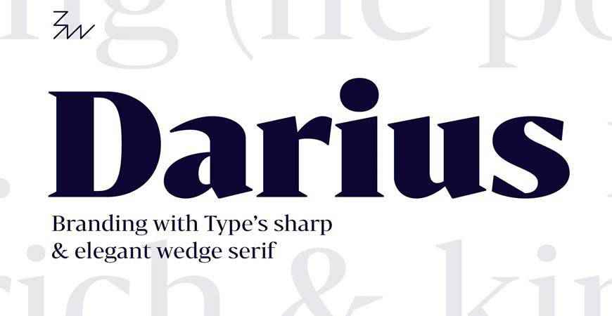 Bw Darius free title headline typography font typeface