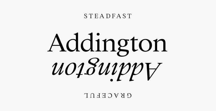 Addington CF Serif free title headline typography font typeface