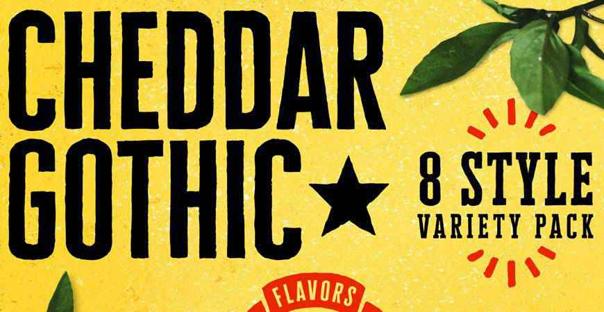 Cheddar Gothic free title headline typography font typeface