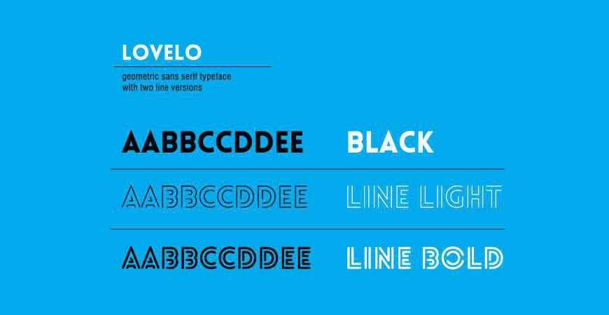 Lovelo free title headline typography font typeface