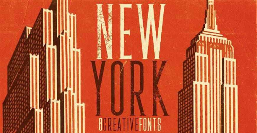 New York free title headline typography font typeface