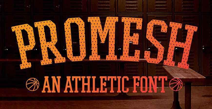 Promesh Athletic free title headline typography font typeface