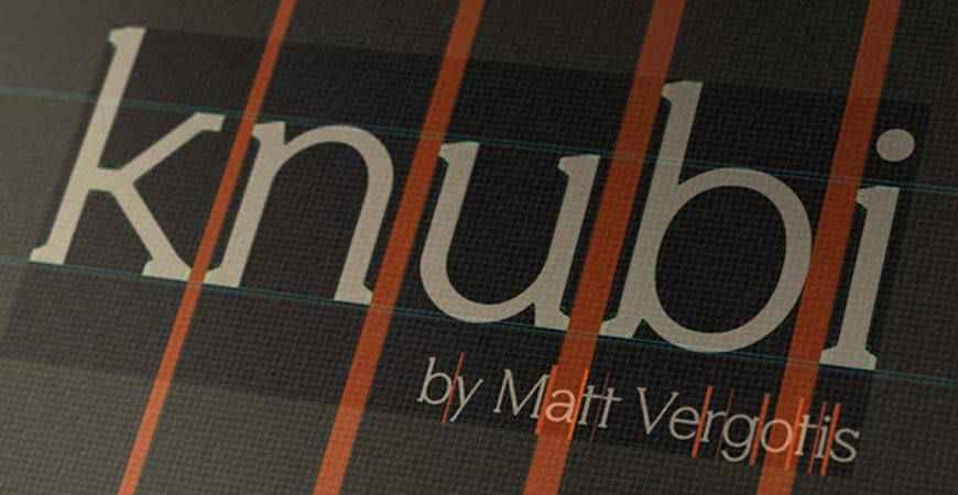 Knubi free title headline typography font typeface