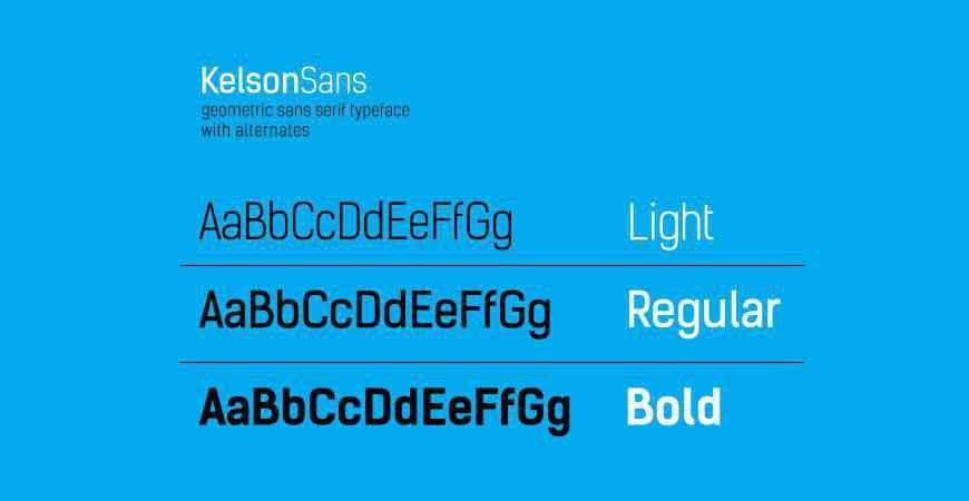 Kelson Sans free title headline typography font typeface