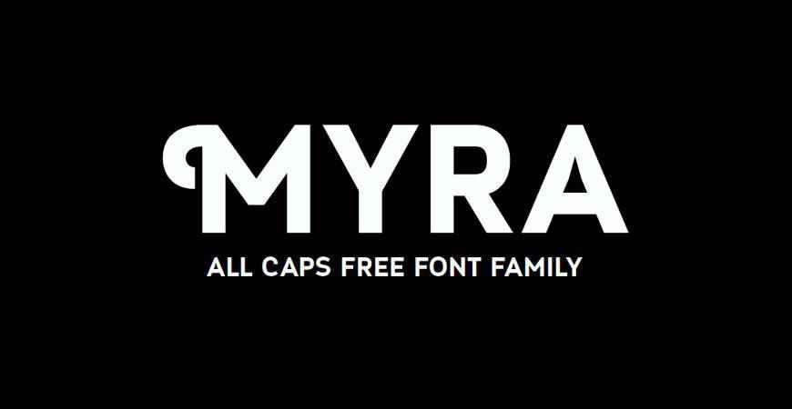 Myra free title headline typography font typeface