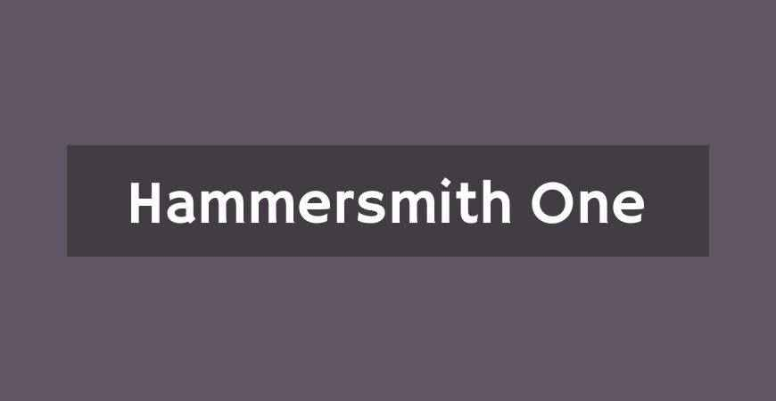 Hammersmith One free title headline typography font typeface