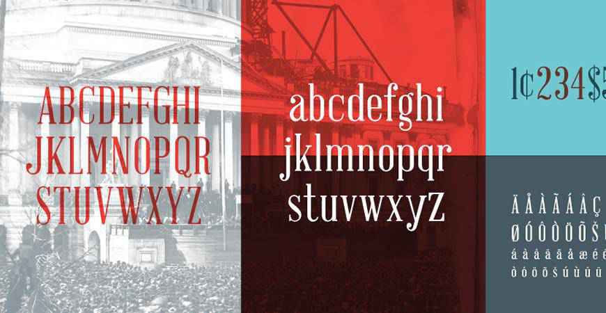 Abraham Lincoln free title headline typography font typeface