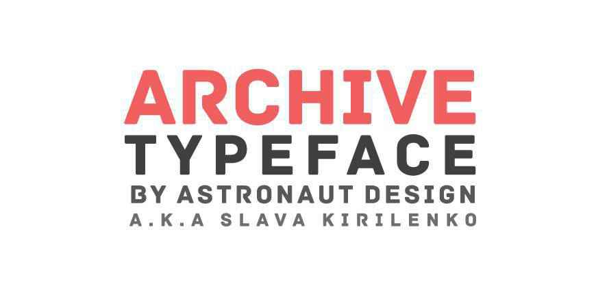 Archive free title headline typography font typeface