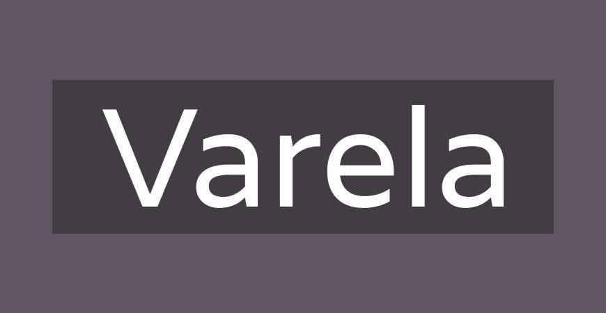 Varela free title headline typography font typeface