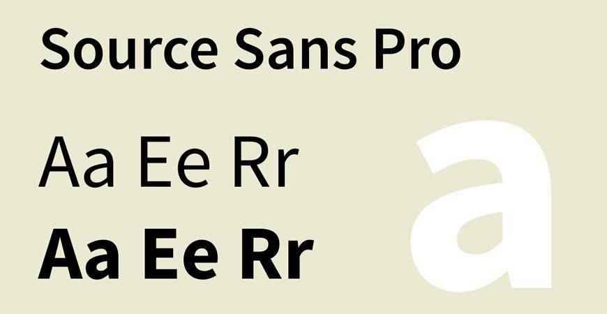 Source Sans Pro free title headline typography font typeface