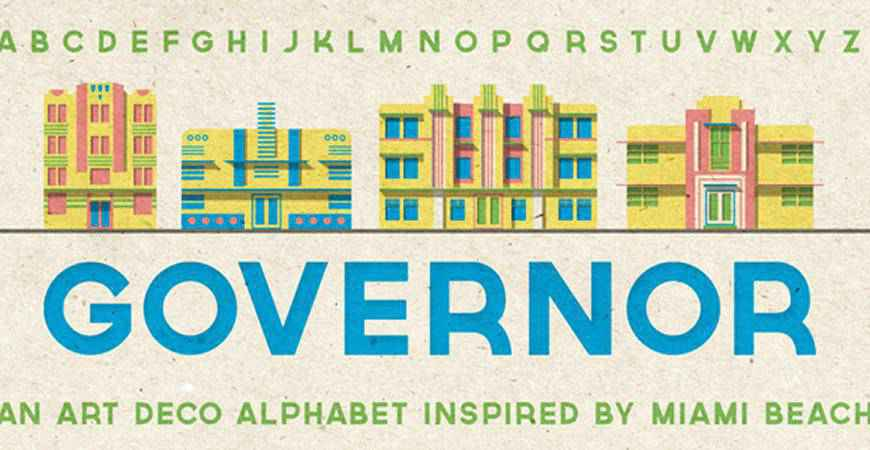 Governor free title headline typography font typeface