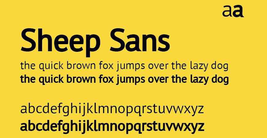 Sheep Sans free title headline typography font typeface