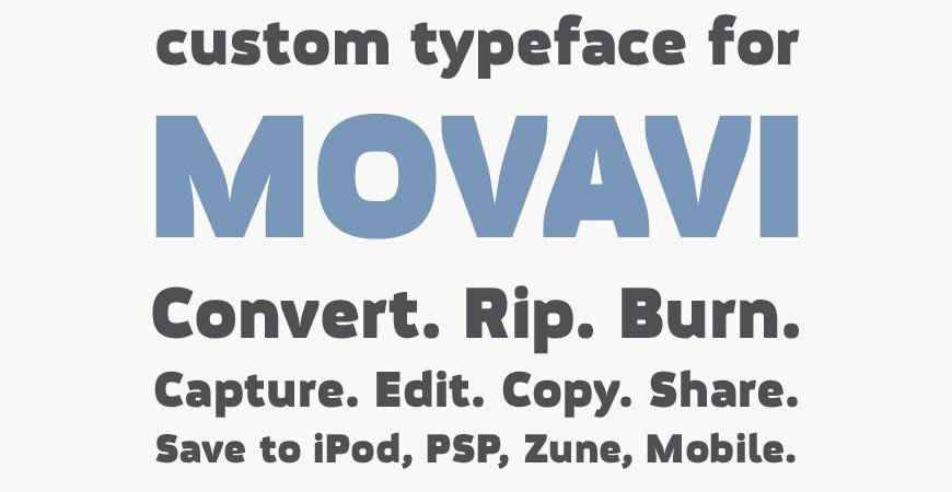 Movavi Grotesque Black free title headline typography font typeface