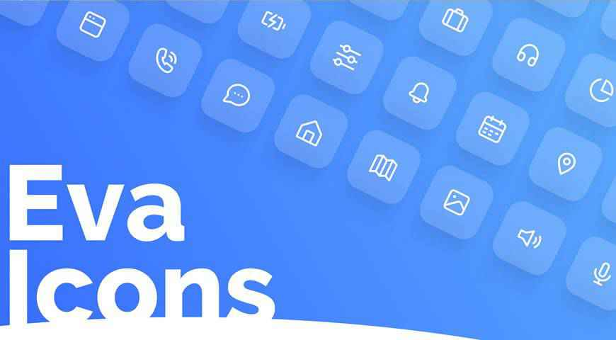 Eva Icons Open Source UI Icon Set @fontface webfont free