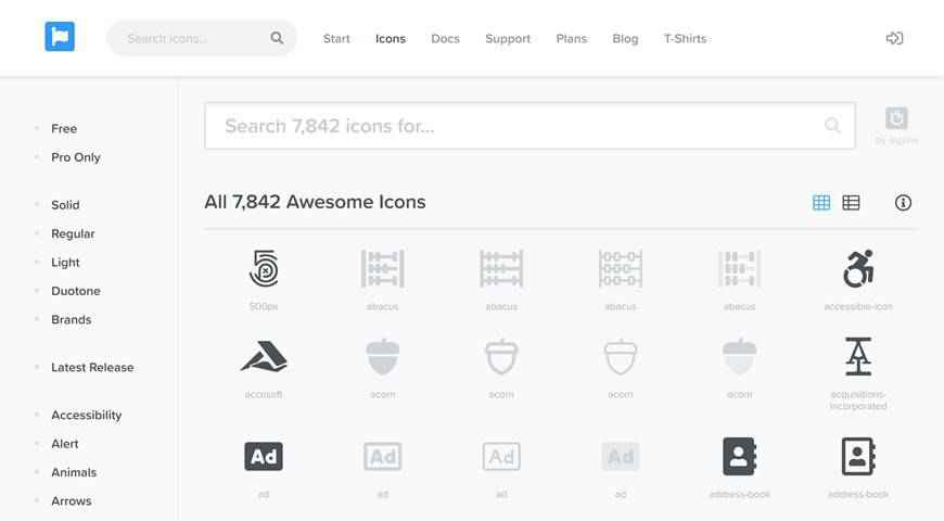 Font Awesome Icon Set @fontface webfont free