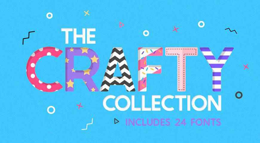 The Crafty Font Collection @fontface webfont free