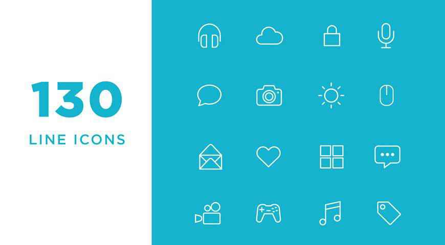Vector Line Icon Font @fontface webfont free