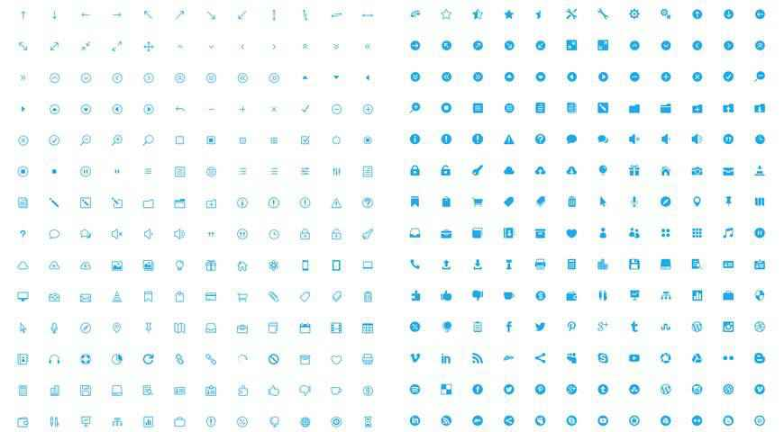 The Elegant Icon Font @fontface webfont free