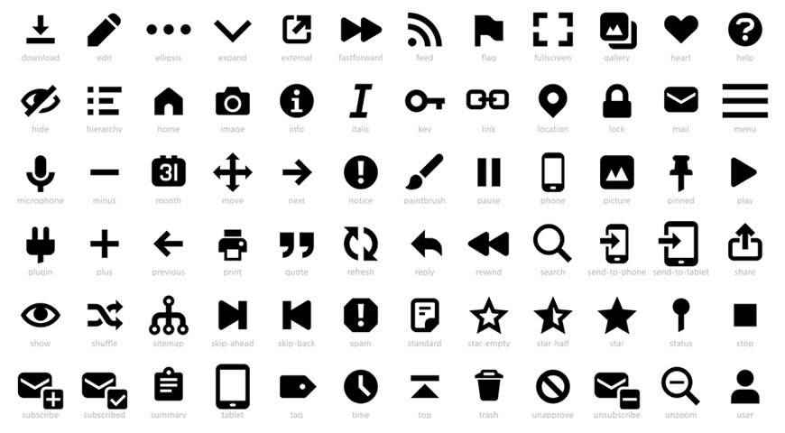 Genericons Neue Icon Font @fontface webfont free
