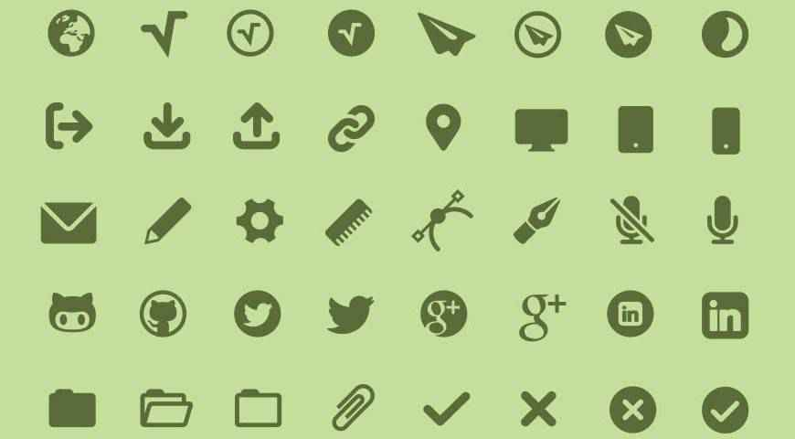 MFG Labs Icon Set @fontface webfont free
