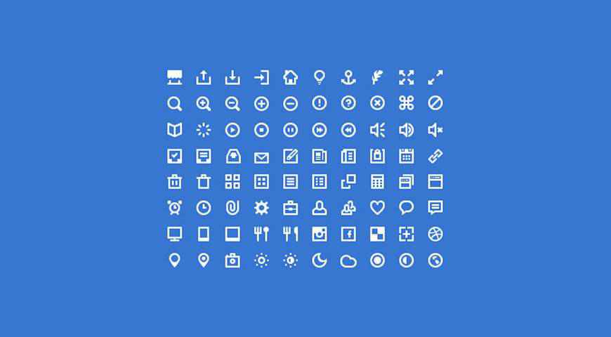 Mini Icon Set @fontface webfont free