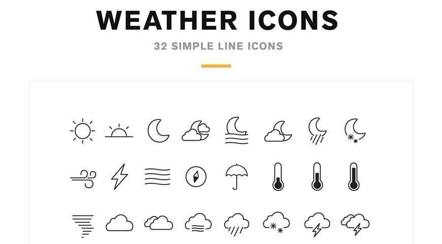 Weather Icons Font @fontface webfont free
