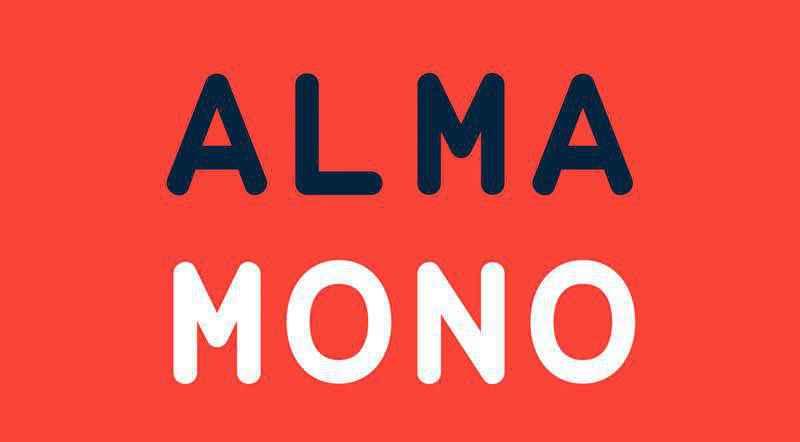 Alma Mono programming code fonts