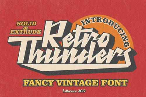 10 Free Retro Font Families for Designers
