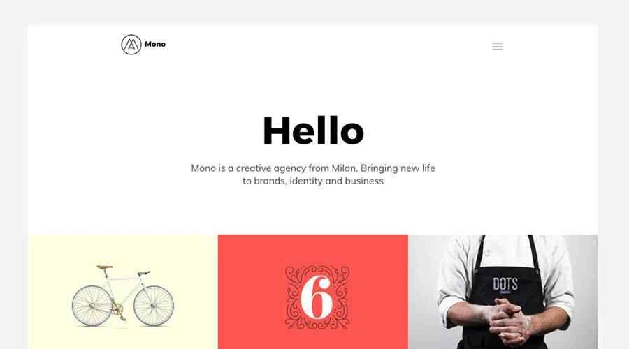 MONO Template for Creatives web design agency
