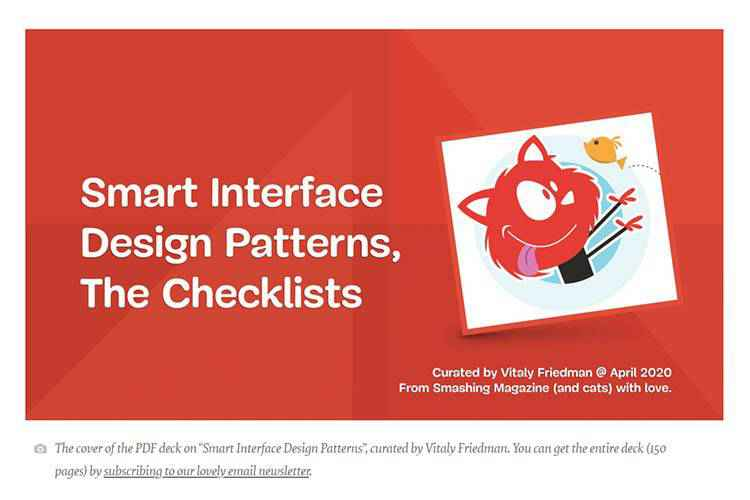 Example from Smart Interface Design Patterns Checklists PDF
