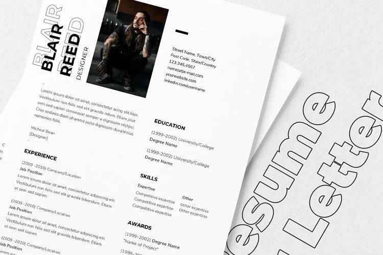 Example from 20 Beautiful & Free Resume Templates for Designers
