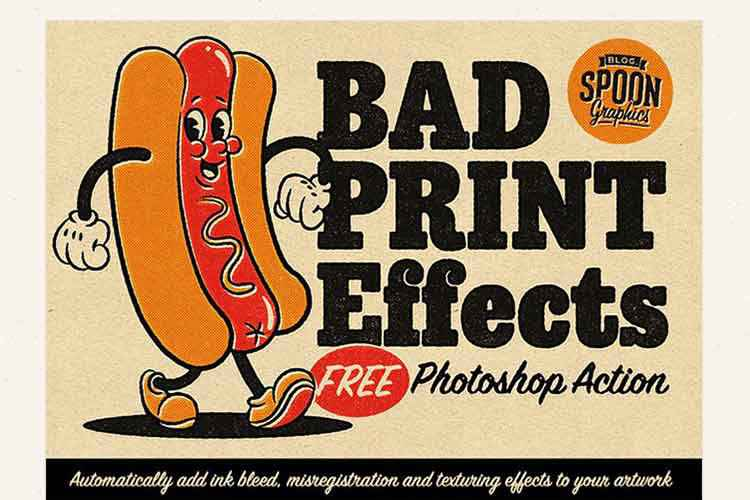Example from 'Bad Print Effects' Photoshop Action